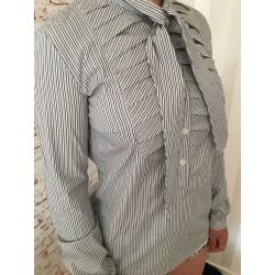 Рубашка бант под воротником